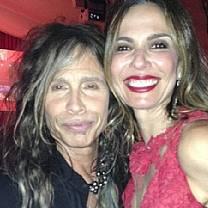 Luciana Gimenez negocia entrevista exclusiva com Steven Tyler
