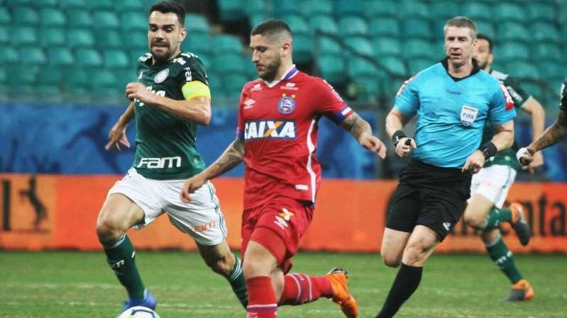 Bahia x Palmeiras na Copa do Brasil: Bruno Henrique perde pênalti, VAR muda cartão e placar não sai do zero