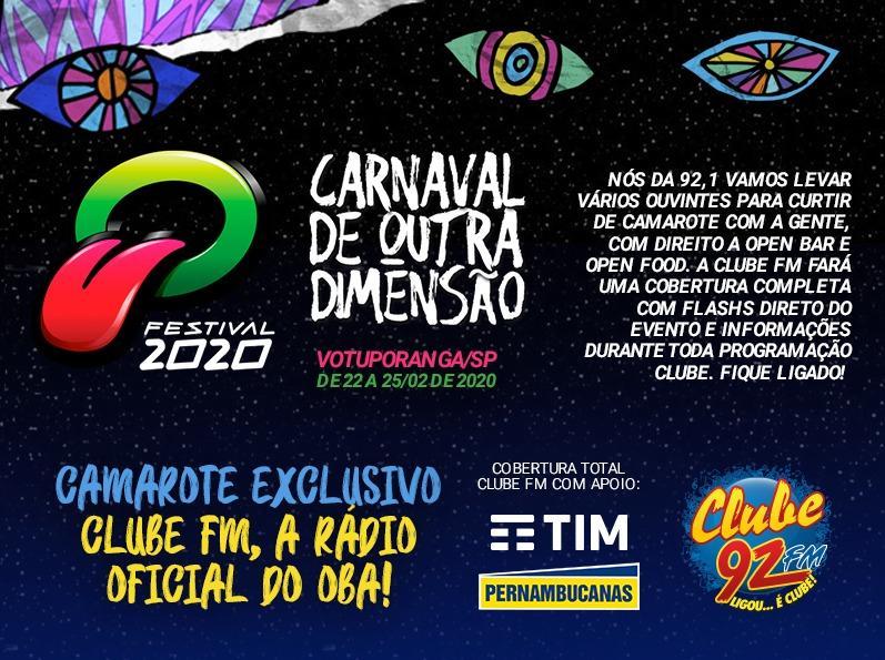 Ganhadores da promoção Camarote Exclusivo Clube FM Oba Festival