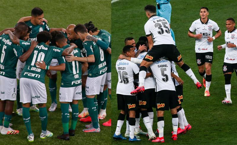 Corinthians e Palmeiras iniciam hoje à noite a decisão do Paulistão