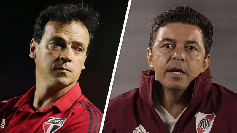 Libertadores: Como São Paulo x River Plate será um 'choque de estilos' entre Diniz e Gallardo