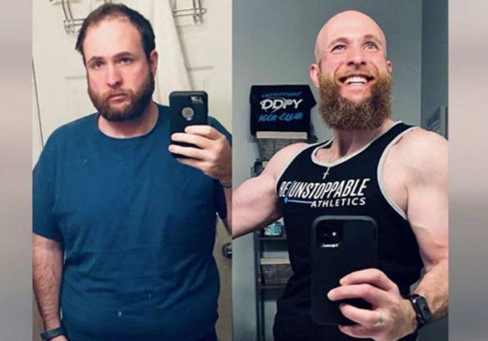 Homem para de beber e mostra fotos com 4 anos de transformação