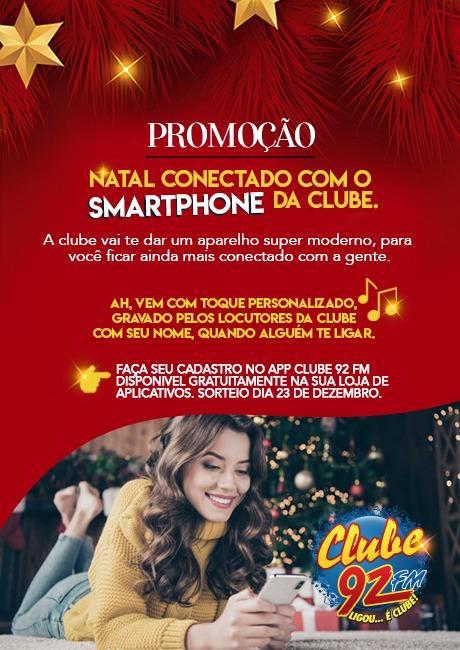 Natal conectado com o Smartphone da Clube