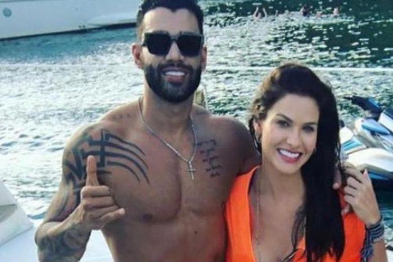 Gusttavo Lima e Andressa Suita trocaram 'beijinhos' no barco, diz fã que fez fotos dos dois