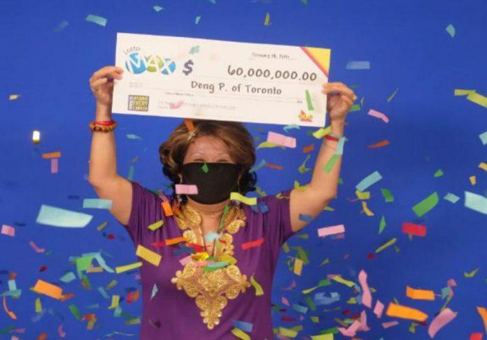 Mulher ganha U$ 60 milhões na loteria graças a sonho do marido